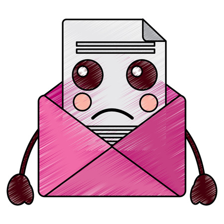 sad message envelope   icon image vector illustration design