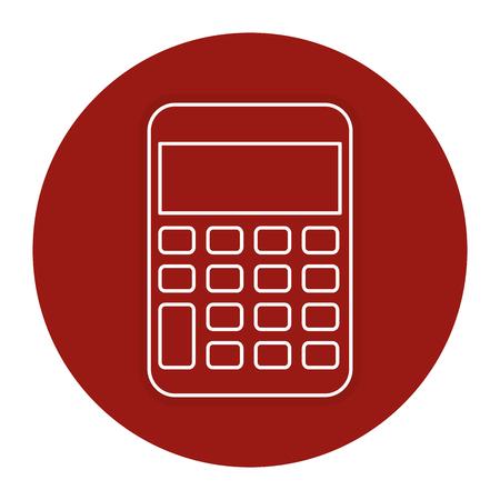 Calculator math isolated icon vector illustration design. Illustration