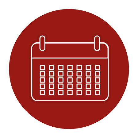 Calendar reminder isolated icon vector illustration design. Illustration