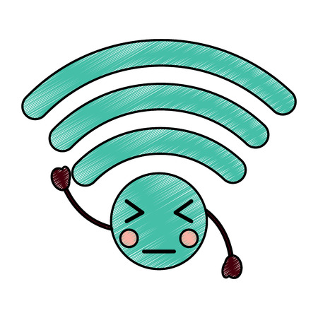 angry wifi icon image vector illustration design Illustration