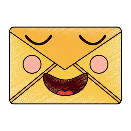 happy message envelope   icon image vector illustration design Çizim