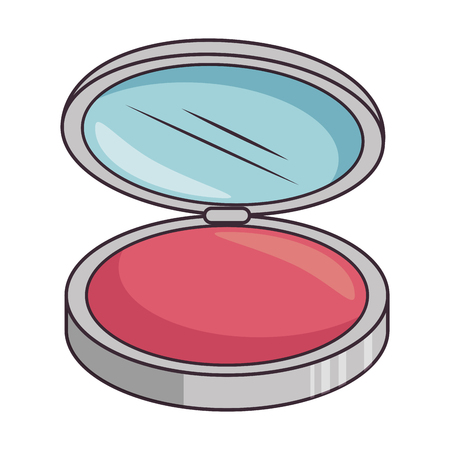 makeup powder isolated icon vector illustration design