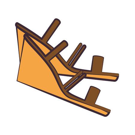 우아한 발 뒤꿈치 샌들 아이콘 벡터 일러스트 디자인