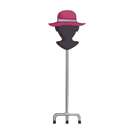 エレガントな女性の帽子ベクトルイラストデザインのマネキン  イラスト・ベクター素材
