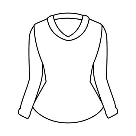 Elegant blouse for women vector illustration design.