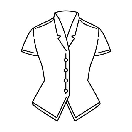 Blusa elegante para o projeto da ilustração do vetor das mulheres. Foto de archivo - 93971043