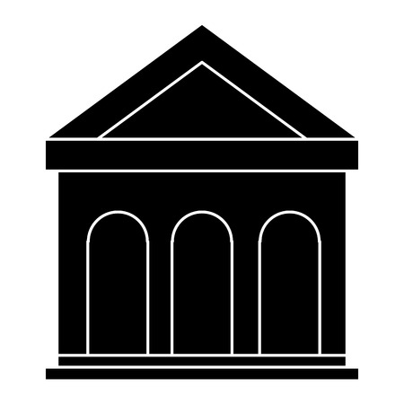 Building with columns icon vector illustration design.