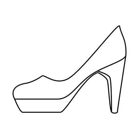 Elegant vector de illustratieontwerp van het hiel vrouwelijk pictogram. Stock Illustratie