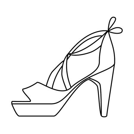 Elegant sandalen pictogram vector illustratie ontwerp met hakken Stockfoto - 93976963