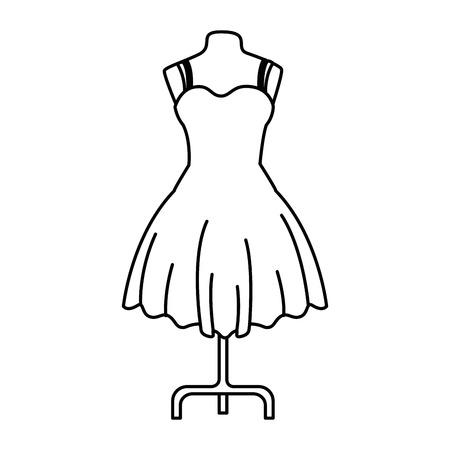 elegant dress for woman in manikin vector illustration design 向量圖像