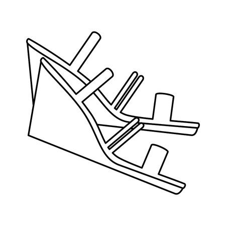 Elegant sandalen pictogram vector illustratie ontwerp met hakken Stockfoto - 93984050