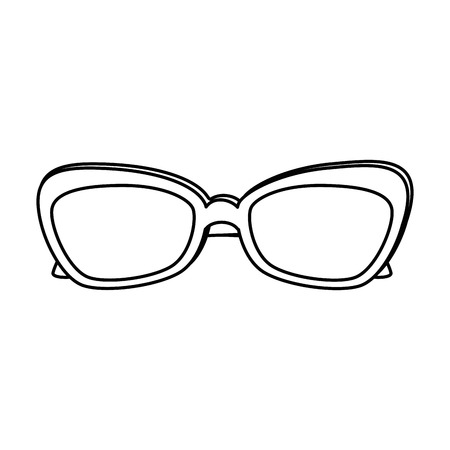 fashion eyeglasses isolated icon vector illustration design Illustration