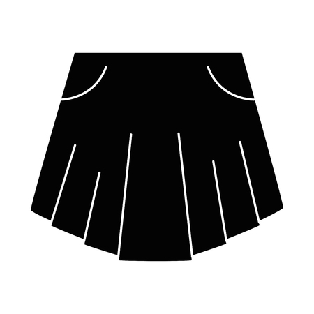 elegant short skirt for woman vector illustration design