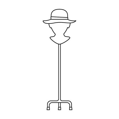 mannequin met elegante vrouwelijke hoed vector illustratie ontwerp