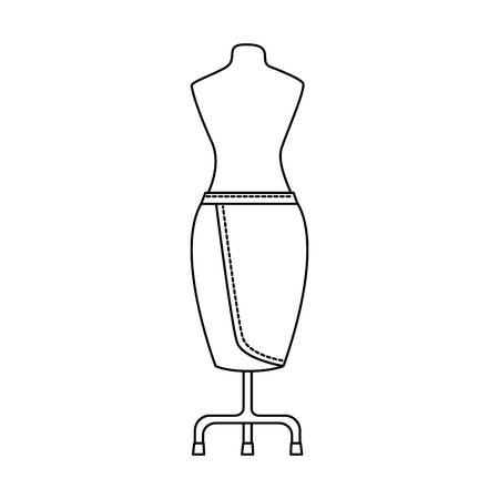 elegant skirt for woman in manikin vector illustration design