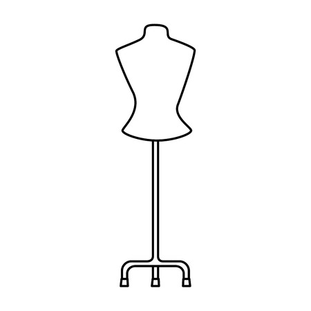 mannequin store isolated icon vector illustration design