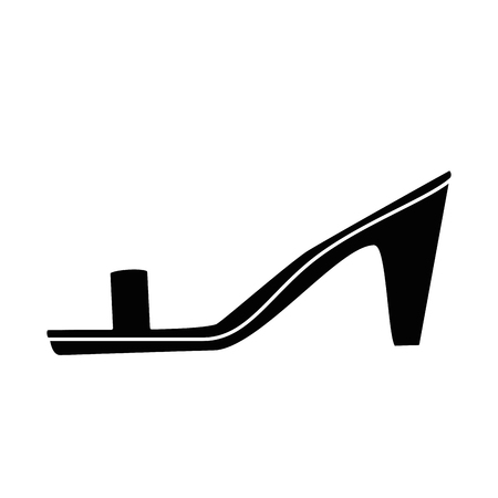 elegant heeled sandals icon vector illustration design Illustration