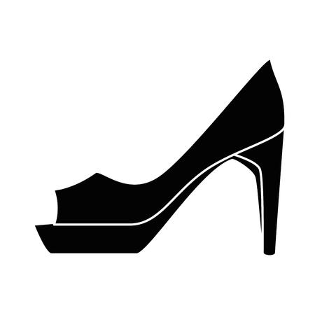 elegant hiel vrouwelijk pictogram vectorillustratieontwerp Stock Illustratie