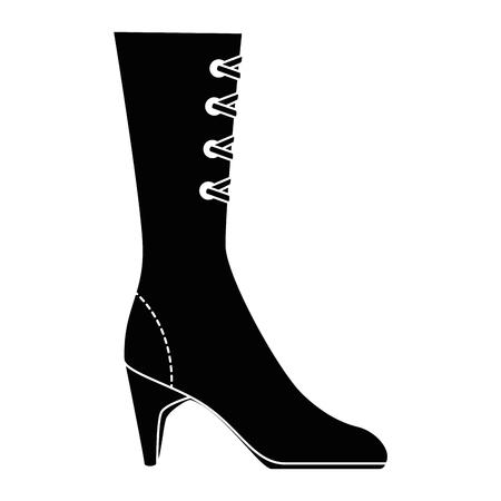 elegant heeled boots icon vector illustration design Illusztráció