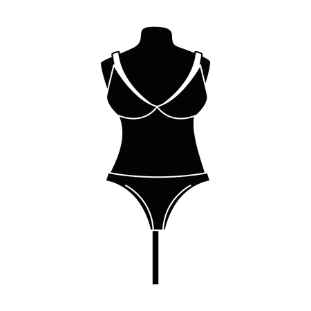 female underwear on mannequin vector illustration design