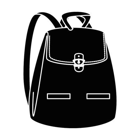 女性バックパック孤立アイコンベクトルイラストデザイン