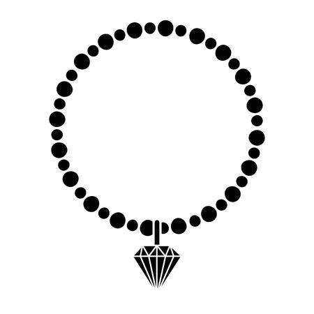 necklace elegant isolated icon vector illustration design
