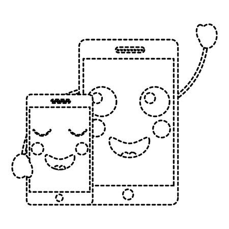 Cellphones icon image vector illustration design. Illusztráció