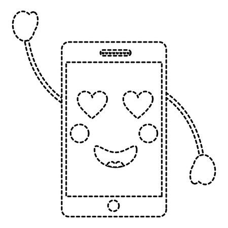 cellphone heart eyes icon image vector illustration design Иллюстрация