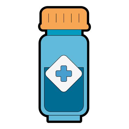 ボトル薬はアイコンベクトルイラストデザインを分離。