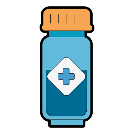 Bottle drugs isolated icon vector illustration design. Stock Vector - 94060729