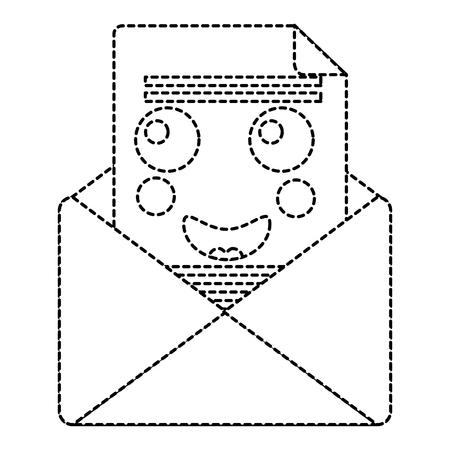 email envelope letter message cartoon vector illustration sticker design