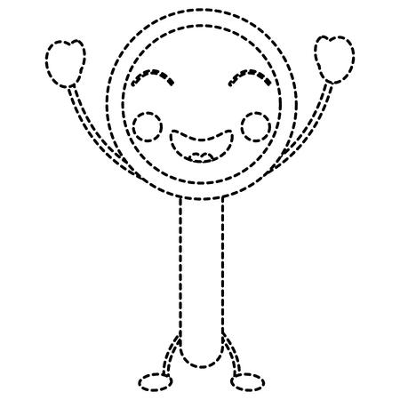 progettazione divertente dell'autoadesivo dell'illustrazione di vettore della lente d'ingrandimento divertente
