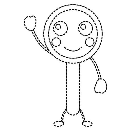 progettazione divertente dell'autoadesivo dell'illustrazione di vettore della lente d'ingrandimento divertente Vettoriali