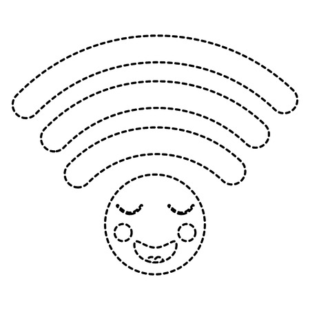cartoon wifi internet signal  character vector illustration sticker design Illustration