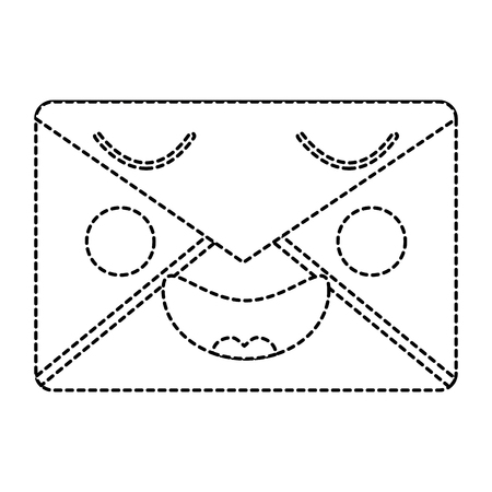 mail envelope  character smiling vector illustration sticker design
