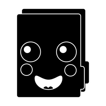 folder document cute cartoon vector illustration pictogram desing