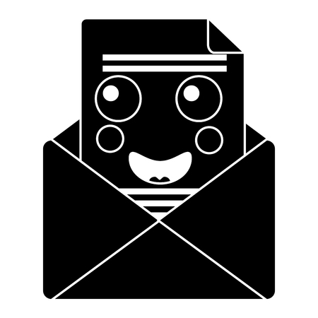 mail envelope   character cartoon vector illustration pictogram design