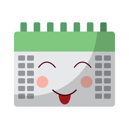 calendar event cute cartoon vector illustration Imagens - 93983967