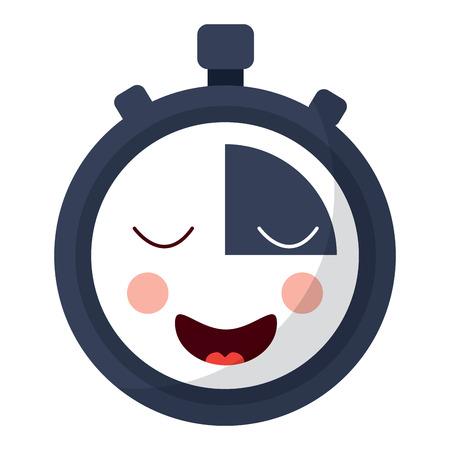 Chronomètre minuterie dessin animé personnage illustration vectorielle Banque d'images - 93980986