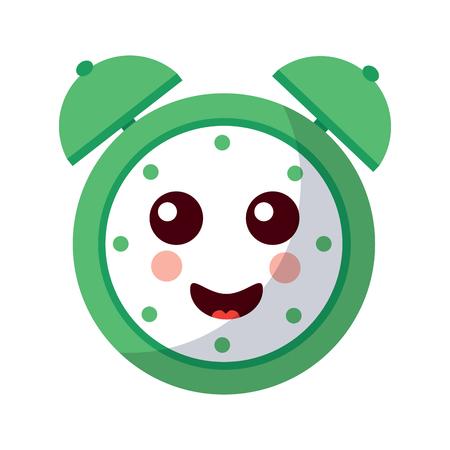 cartoon clock alarm character vector illustration Illustration