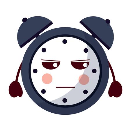 cartoon angry clock alarm character vector illustration Фото со стока - 93984236