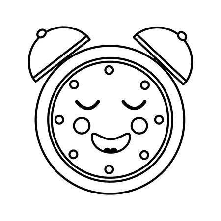 cartoon clock alarm character vector illustration outline image Фото со стока - 93981112