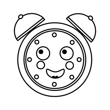 cartoon clock alarm character vector illustration outline image Фото со стока - 93981126