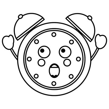 cartoon clock alarm character vector illustration outline image Фото со стока - 93985350