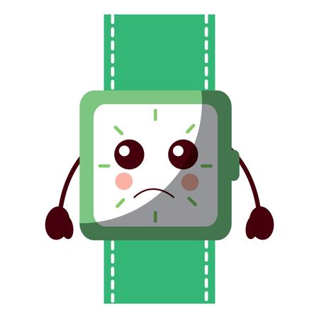 wrist watch bracelet square cartoon vector illustration