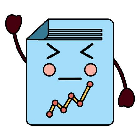 document sheet graph cartoon vector illustration