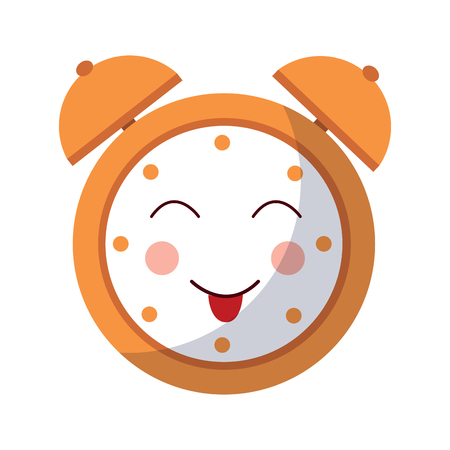 漫画時計アラームキャラクターベクトルイラスト  イラスト・ベクター素材