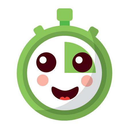 Chronomètre minuterie dessin animé personnage illustration vectorielle Banque d'images - 93985274