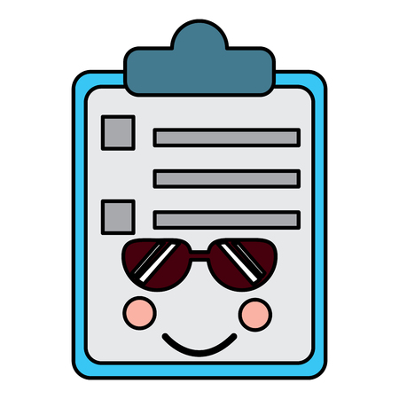 paper cry clipboard   character cartoon vector illustration