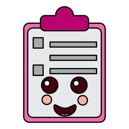종이 울음 클립 보드 문자 만화 벡터 일러스트 레이션 스톡 콘텐츠 - 93985154